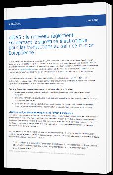 eIDAS : le nouveau règlement concernant la signature électronique pour les transactions au sein de l'Union Européenne