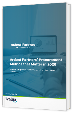 Ardent Partners' Procurement Metrics that Matter in 2020