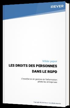 Les droits des personnes dans le RGPD