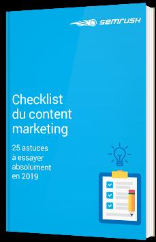 Checklist du Content Marketing
