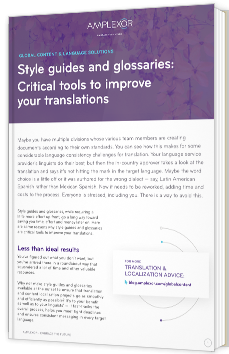 Style guides and glossaries: Critical tools to improve your translations