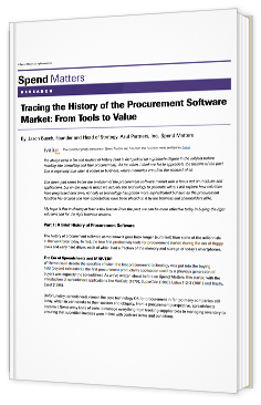 Tracing the history of the Procurement Software Market: from tools to value