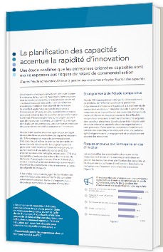La planification des capacités accentue la rapidité d'innovation