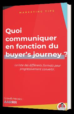 Quoi communiquer en fonction du buyer's journey ?