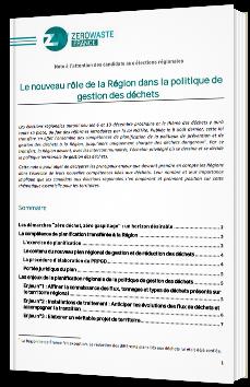 Le nouveau rôle de la Région dans la politique de gestion des déchets