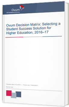 Selecting a Student Success Solution for Higher Education, 2016–17