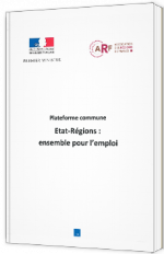 Plateforme commune - Etat-Régions : ensemble pour l'emploi