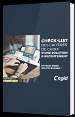 Check-list des critères de choix d'une solution e-recrutement