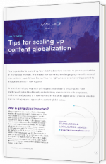 Tips for scaling up content globalization