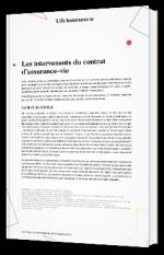 Les intervenants du contrat d'assurance-vie
