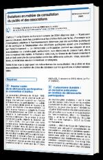 Évolutions en matière de consultation du public et des associations
