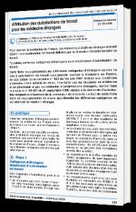 Attribution des autorisations de travail pour les médecins étrangers