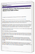 Tracing the History of the Procurement Software Market : From tools to value