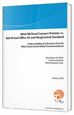 Mitel MiCloud Connect Premier vs. 8x8 Virtual Office X5 and RingCentral Standart