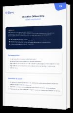 Checklist Offboarding  (côté employeur)
